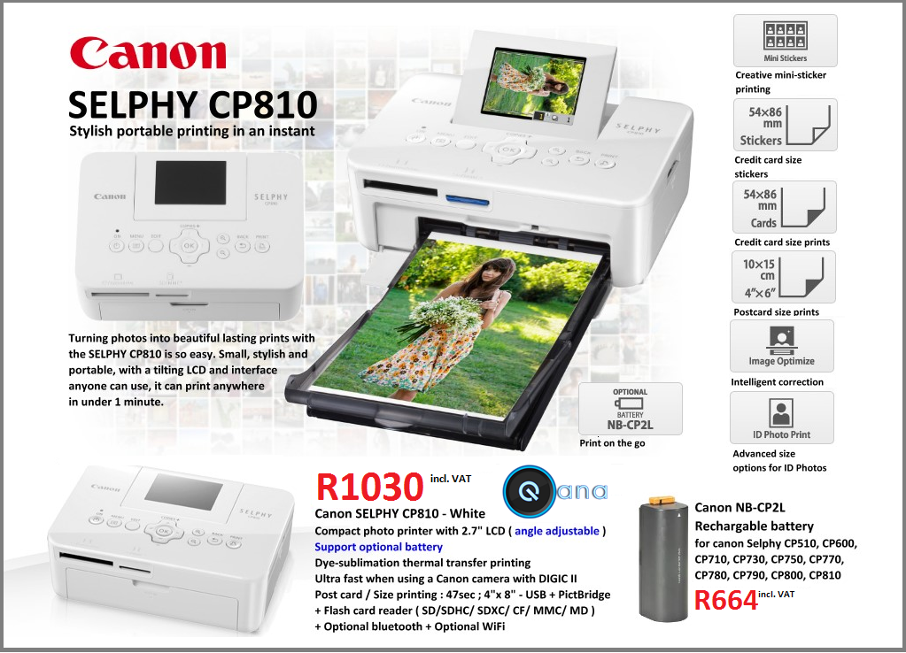 Canon Selphy CP810 Photo Printer special